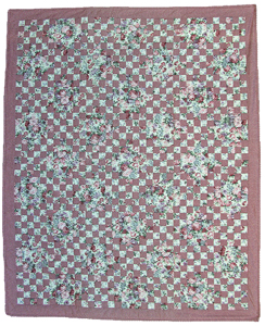 Double Irish Chain Handmade Quilt from D and ME