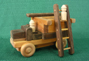 Handmade Wood Toy Fire Engine and Ladders D and ME