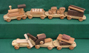 Handmade Wood Toy Jumbo Train D and ME Toys