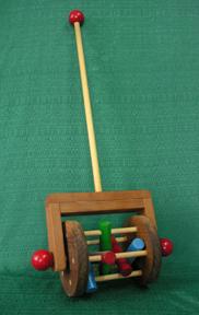 Klickity Klacker Toddler Handmade Wood Push Toy