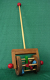 Klickity Klacker Toddler Handmade Wood Push Toy