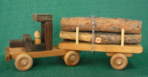 Handmade Wood Montana Logging Truck D and ME Toys