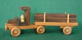 Handmade Wood Montana Lumber Truck D and ME Toys