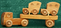 Handmade Wood Toy Mini Car Carrier by D and ME