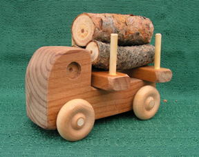 Handmade Wood Toy Small Logger Truck D and ME Toys