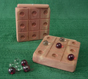 Handmade Wood Tic Tac Toe Game with Marbles