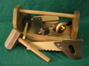 Handmade Wood Toy Tool Box and Toy Tools